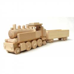 CEED Cavity - drevený vláčik - Parná lokomotíva s vagónom