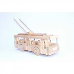 CEED Cavity - prírodný drevený trolejbus