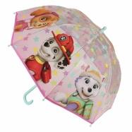 Deštník dětský Tlapková patrola růžový