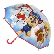 Detský manuálny dáždnik Tlapková patrola priesvitný