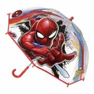 Detský manuálny dáždnik Spiderman priesvitný