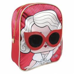 Detský batôžtek 3D L.O.L. Červeno / ružový