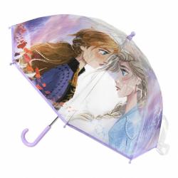 Detský manuálny dáždnik Ľadové kráľovstvo priesvitný