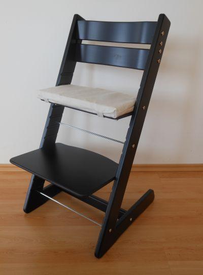 Dětská rostoucí židle JITRO KLASIK černá
