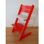 Detská rastúca stolička JITRO KLASIK červená