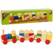 Vlak malý drevený