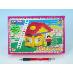 Stavebnice Cheva 6 Domeček plast 86 ks