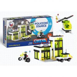 Stavebnica Cheva 19 Policajná stanica plast 335ks v krabici 45x30x5cm