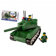 Stavebnica Cheva 49 Tank plast 247ks v krabici