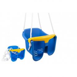 Hojdačka Baby modrá plast 33x30x28cm nosnosť 25kg v sieťke 12m +