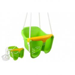 Hojdačka Baby zelená plast 33x30x28cm nosnosť 25kg v sieťke 12m +