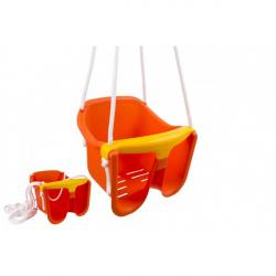 Hojdačka Baby oranžová plast 33x30x28cm nosnosť 25kg v sieťke 12m +