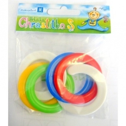 Chrastítko-kousací kroužky