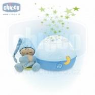 Chicco Lampička hrajúca nočná obloha - modrá