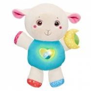 Ovečka s nočnou lampičkou a hrkálkou Chicco - First Love