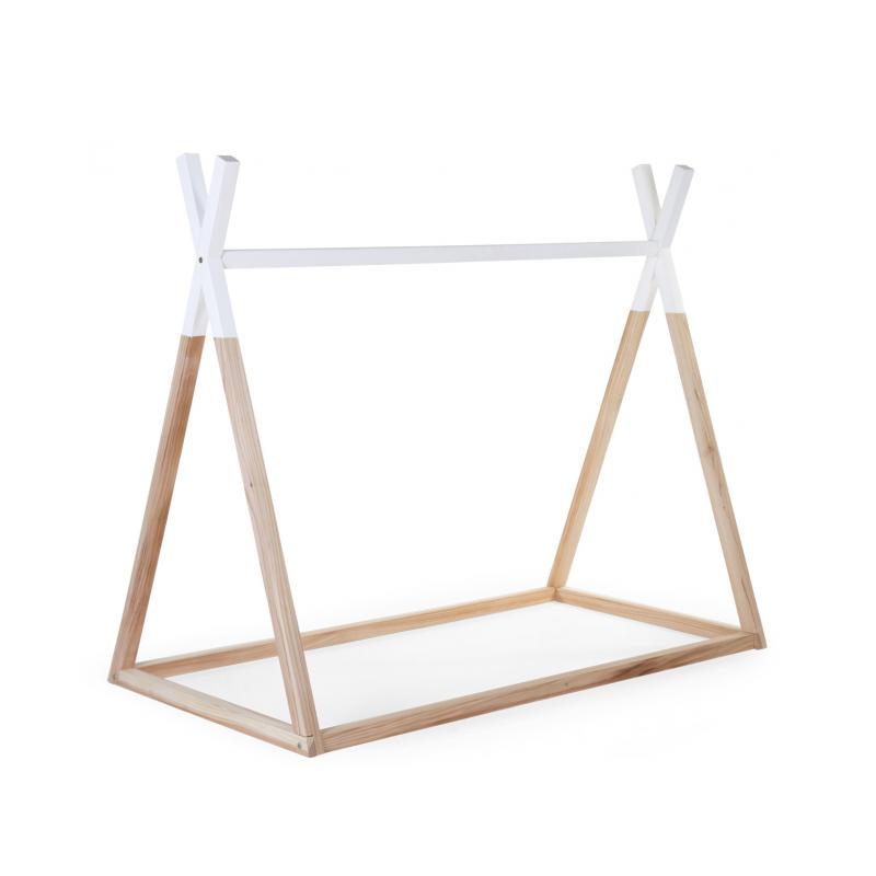 Posteľ Tipi stan konštrukcie Natural White 70x140cm