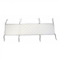 Mantinel do postieľky 35x170cm Jersey Gold Dots
