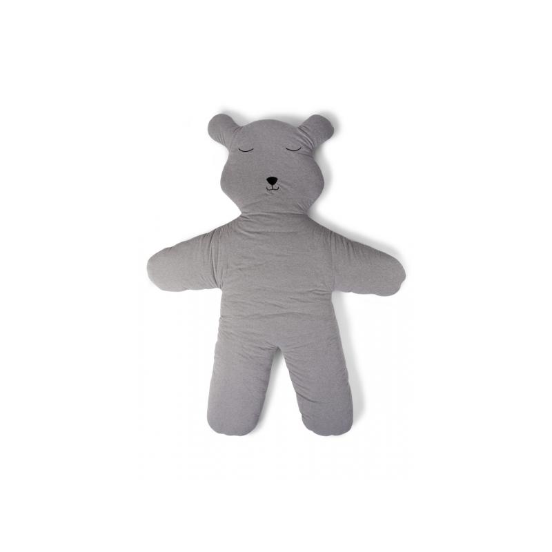 Hracia deka medveď Teddy Jersey Grey 150cm