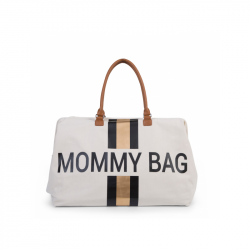Přebalovací taška Mommy Bag Off White / Black Gold