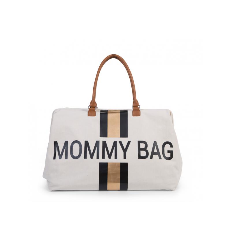 Přebalovací taška Mommy Bag Off White / Black Gold
