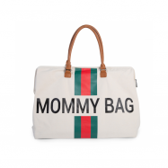 Prebaľovacia taška Mommy Bag Off White / Green Red