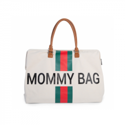 Prebaľovacia taška Mommy Bag Off White / Green Red