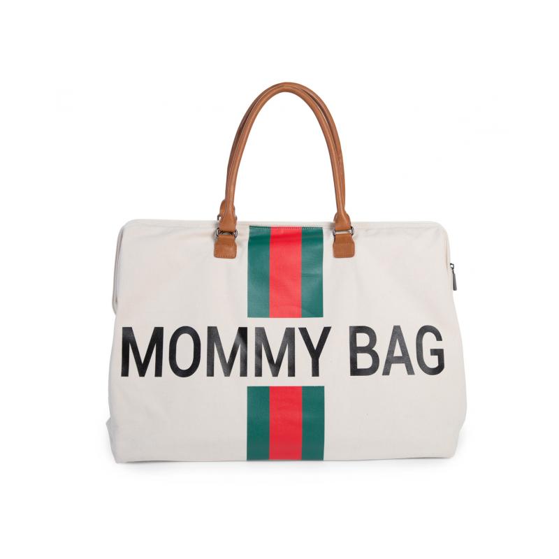 Přebalovací taška Mommy Bag Off White / Green Red