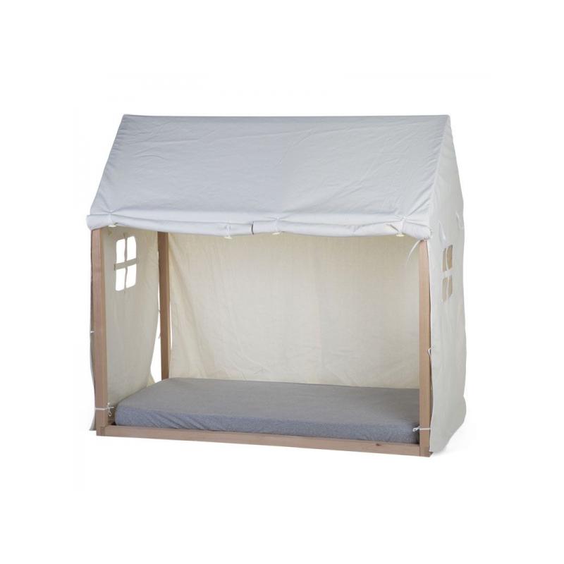 Textilný poťah Tipi White na rám postele Domček 70x140cm