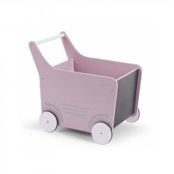 Dekoratívny kočík drevený Soft Pink