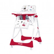 CHIPOLINO Dětská jídelní židlička Modesto - Scarlet