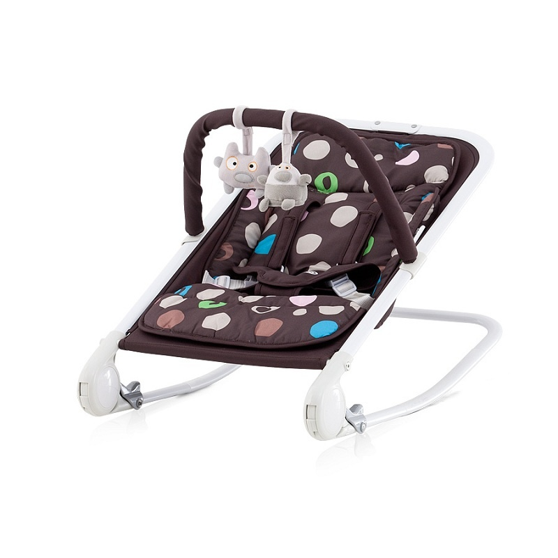 CHIPOLINO Dětské lehátko Baby Boo - chocolate