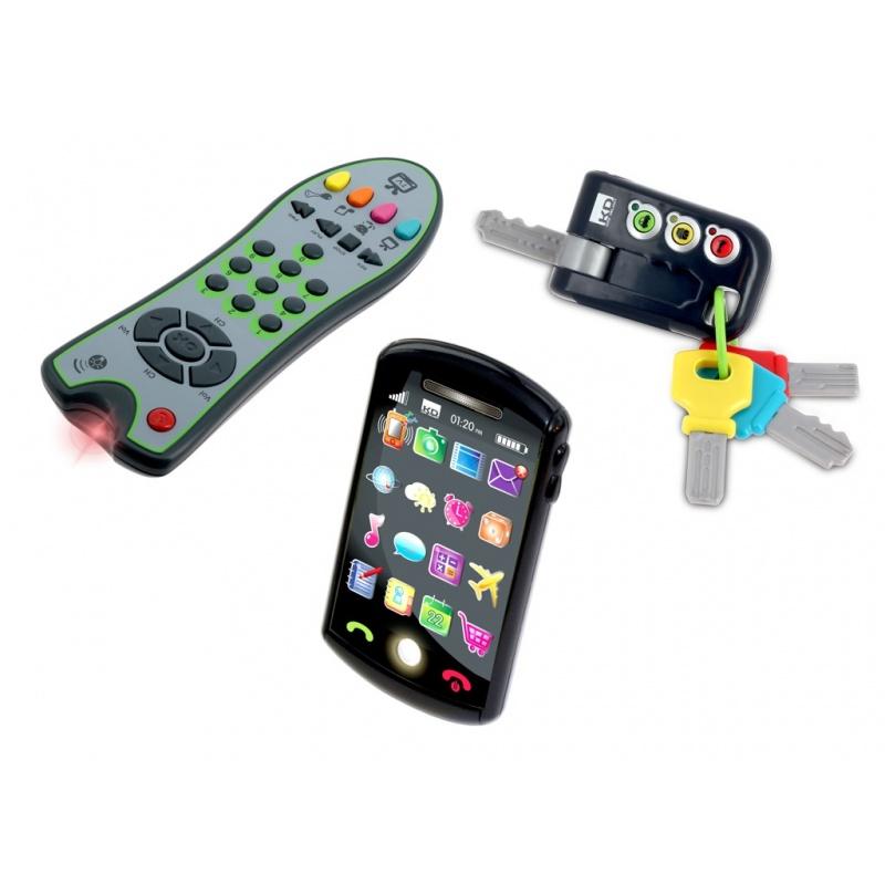 Trio set Tech Too - klíče, ovladač a telefon