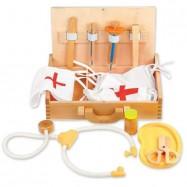 Dřevěné hračky - Doktorksý kufřík - zdravotnický SET