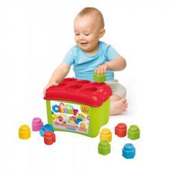Clemmy baby - Prostrkovací kyblík s 18 kostkami