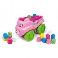Clemmy baby - Kočka - vozík/ chodítko s kostičkama