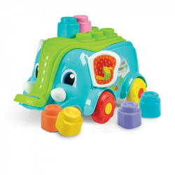 CLEMMY baby - Vozík slon s kockami