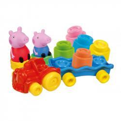 CLEMMY baby - Peppa Pig - vláčik s kockami