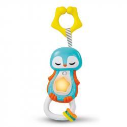 Elektronické hrkálka s úchytom - Tučniak
