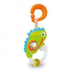 Elektronické chrastítko s úchytem - Chameleon