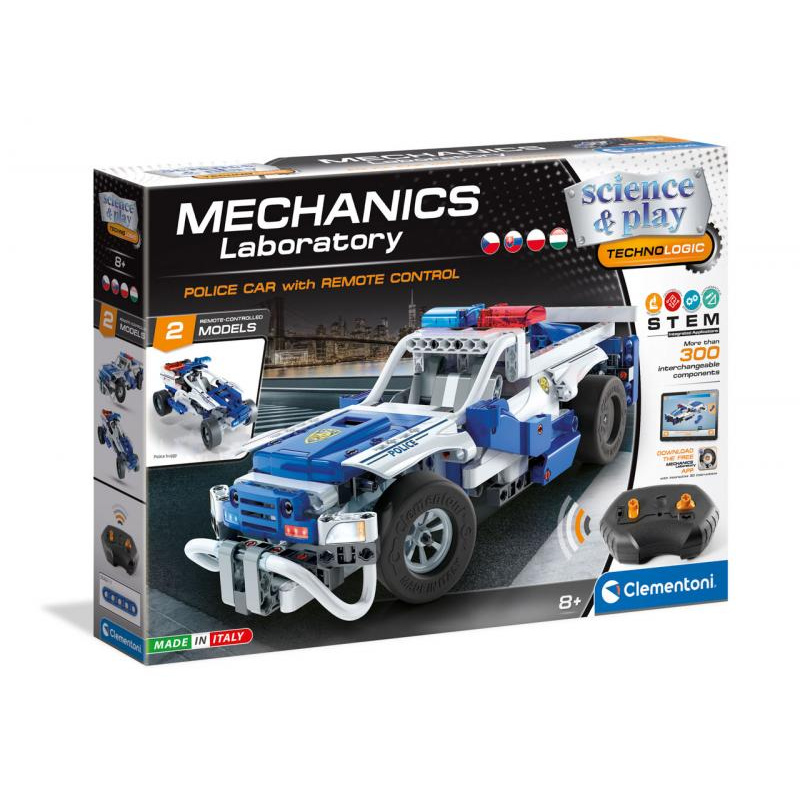 Mechanická laboratórium - RC Policajné auto, 2 modely, 300 dielikov