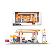 Benzinová stanice  se světlem+zvukem 1:64