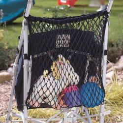 CLIPPASAFE sieťová taška na kočík, čierna