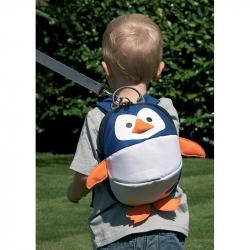 CLIPPASAFE Detský batoh s odnímateľným vodítkom, Penguin