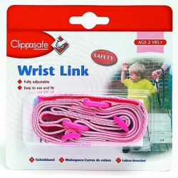CLIPPASAFE Smycz na rękę dla dzieci, pink