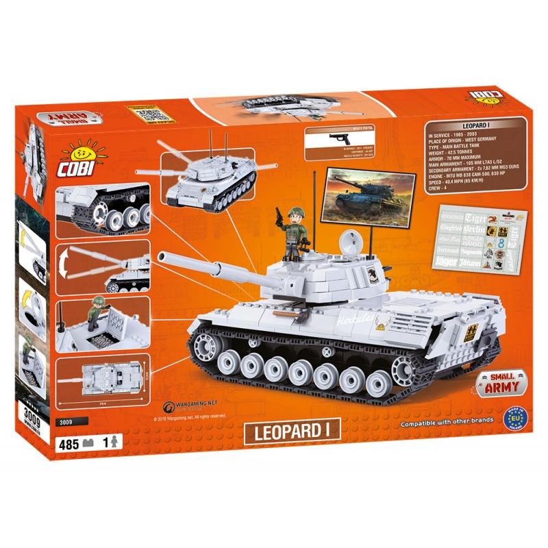 Stavebnice WOT Leopard I, 485 k, 1 f