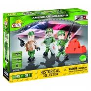 Cobi 2026 SMALL ARMY – 3 figurky s doplňky Americká armáda