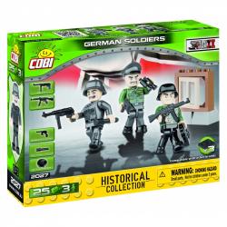 Cobi 2027. Mała Armia. Niemieccy żołnierze. 3 figurki z akcesoriami