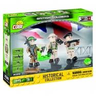 Cobi 2028 SMALL ARMY – 3 figurky s doplňky Britská armáda