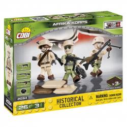 Cobi 2034 SMALL ARMY – 3 figúrky s doplnky Afrika Korps, 26 k