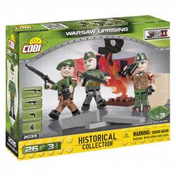 Cobi 2035 SMALL ARMY – 3 figurky s doplňky Varšavské povstání, 26 k